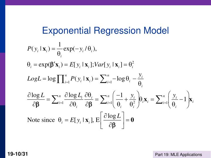 Exponential Regression Model