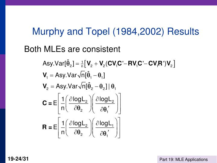 Murphy and Topel (1984,2002) Results