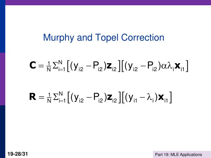 Murphy and Topel Correction