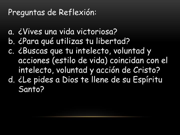 Preguntas de Reflexión: