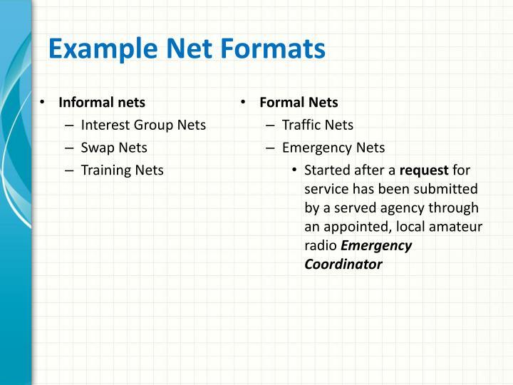 Informal nets