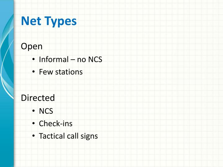 Net Types
