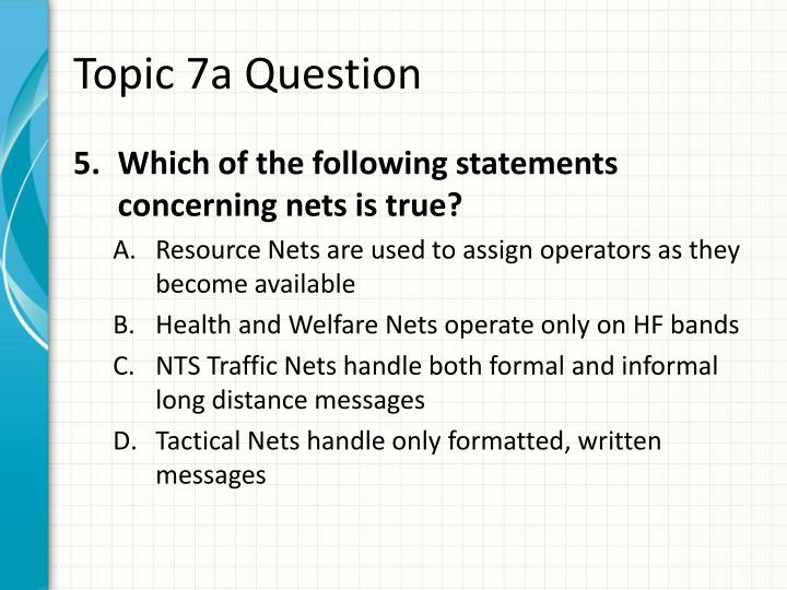 Topic 7a Question
