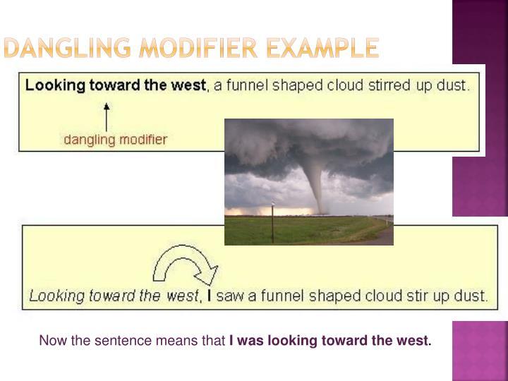 Dangling Modifier Example