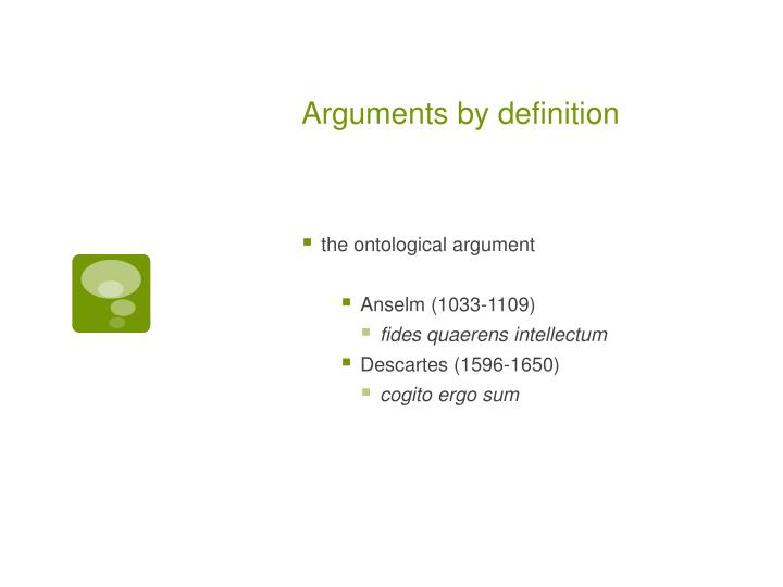 Arguments by definition