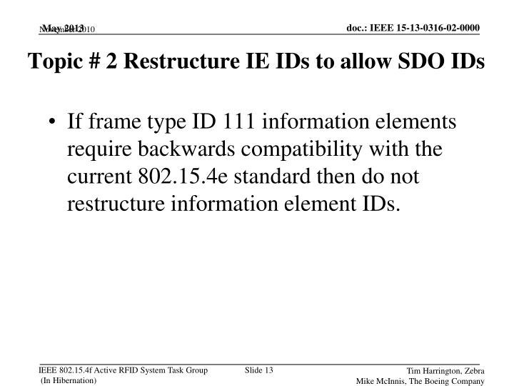 If frame type ID 111 information elements require backwards compatibility with the current 802.15.4e standard then do not restructure information element IDs.