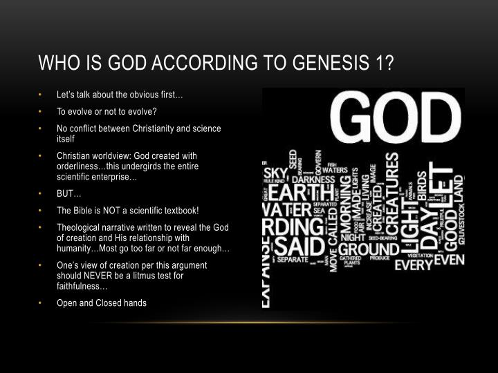 Who is God according to genesis 1?