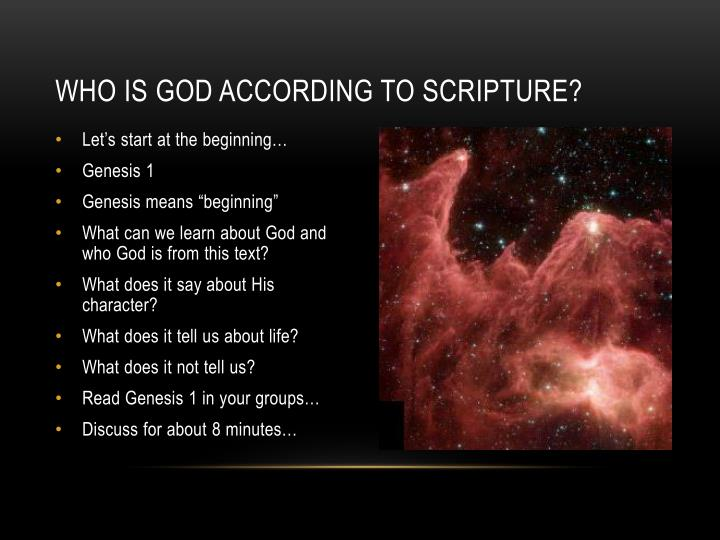 Who is god according to scripture