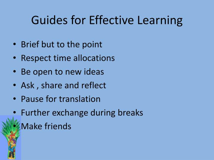 Guides for Effective Learning