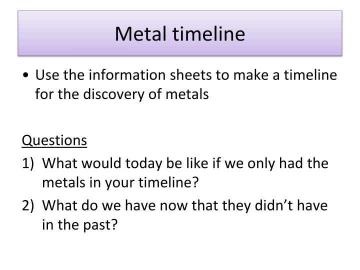 Metal timeline