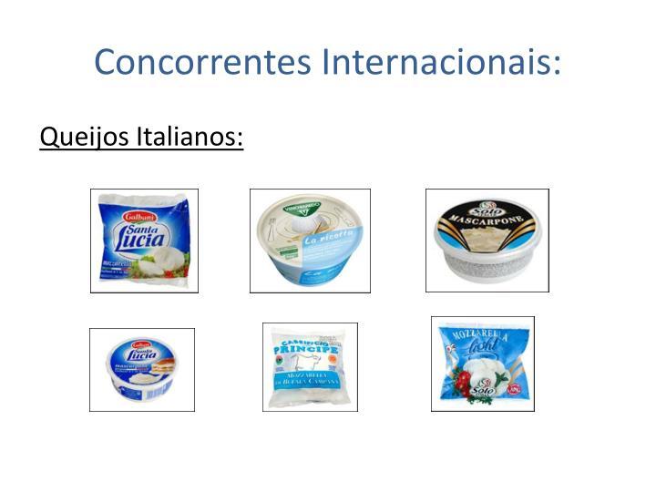 Concorrentes Internacionais: