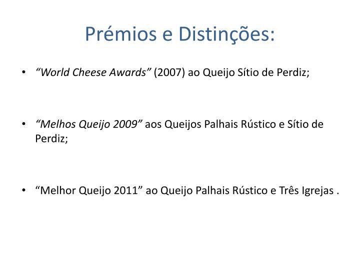 Prémios e Distinções: