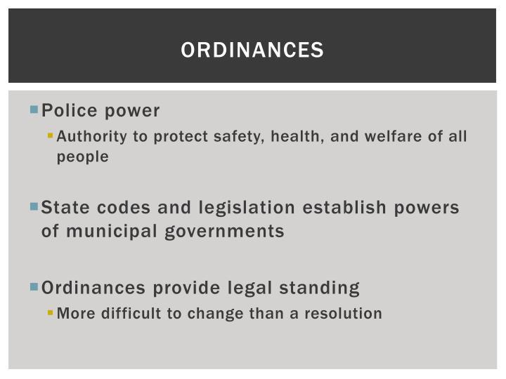 Ordinances