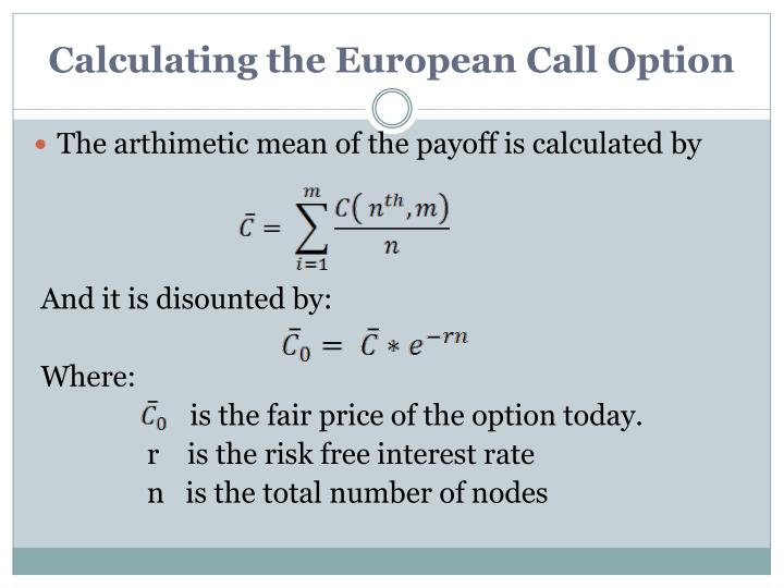 Calculating the European Call Option