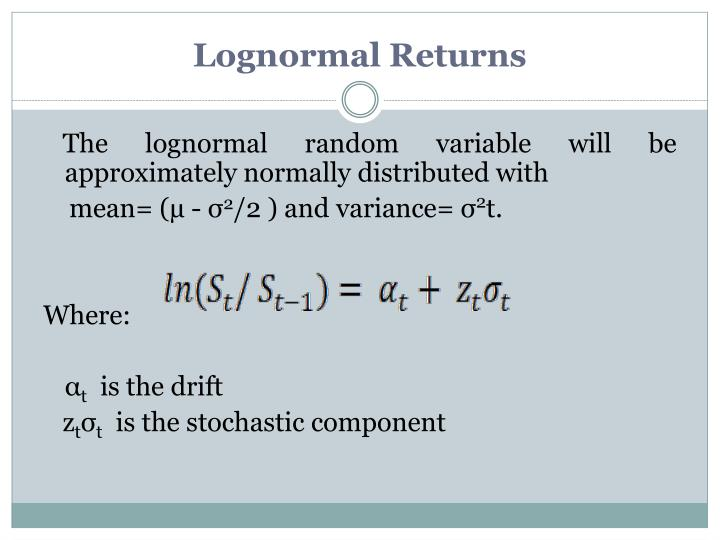 Lognormal Returns