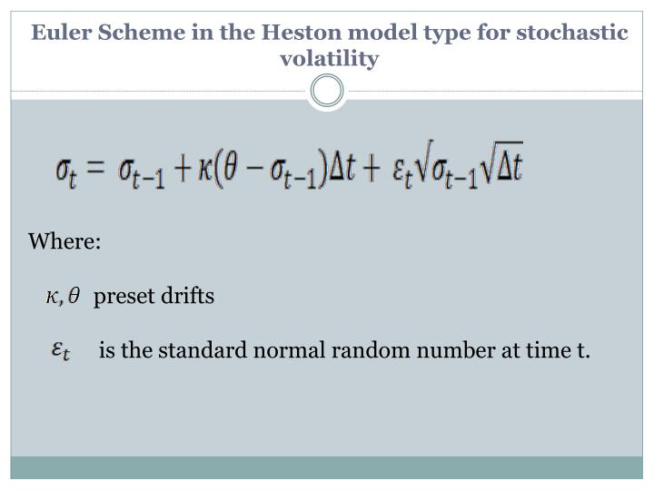 Euler Scheme in the Heston model type for stochastic volatility