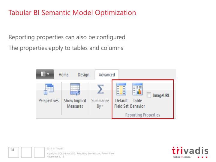 Tabular BI Semantic Model Optimization