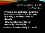 how minerals are classified