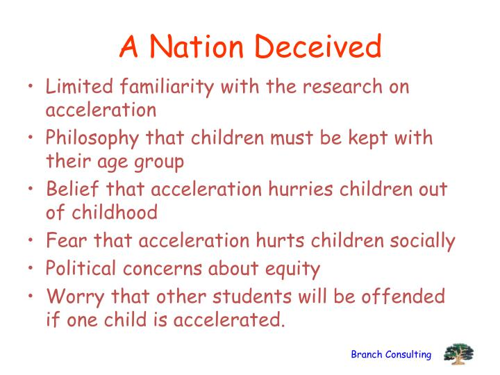 A Nation Deceived