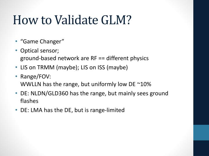 How to Validate GLM?