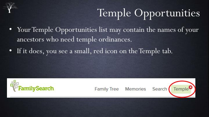 Temple Opportunities