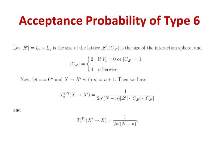 Acceptance Probability of Type 6