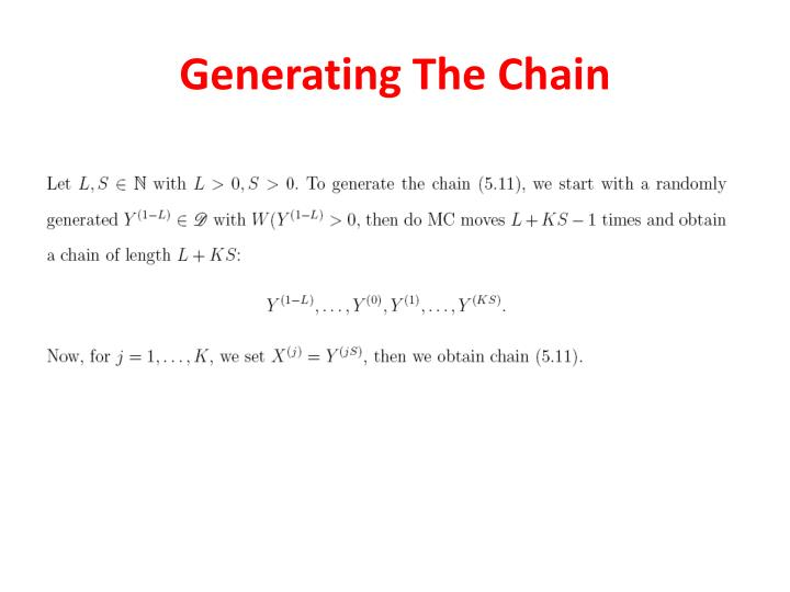 Generating The Chain
