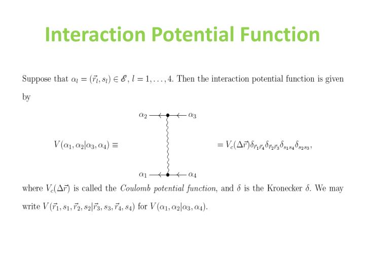 Interaction Potential Function