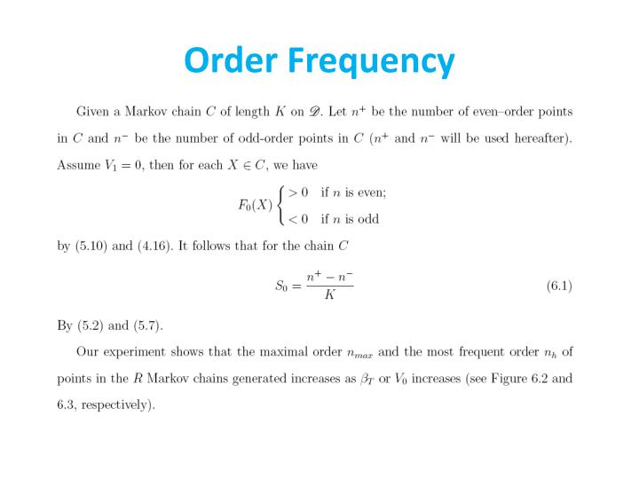 Order Frequency