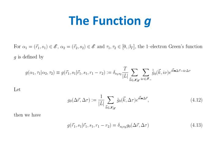 The Function