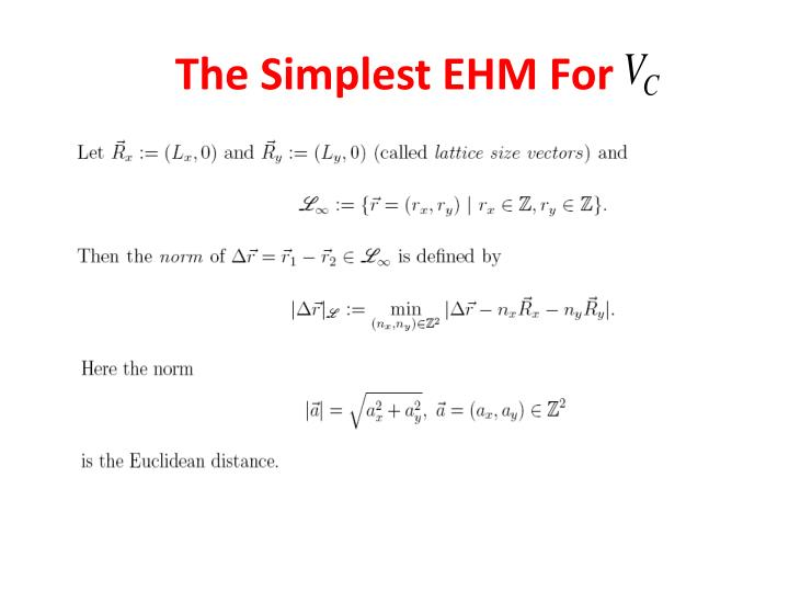 The Simplest EHM For
