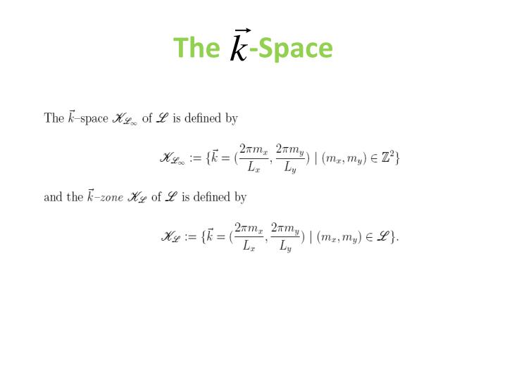 The    -Space