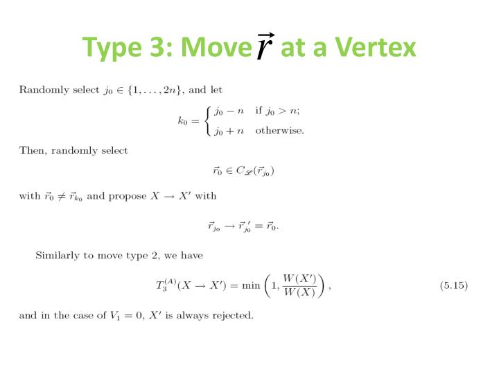 Type 3: Move    at a Vertex