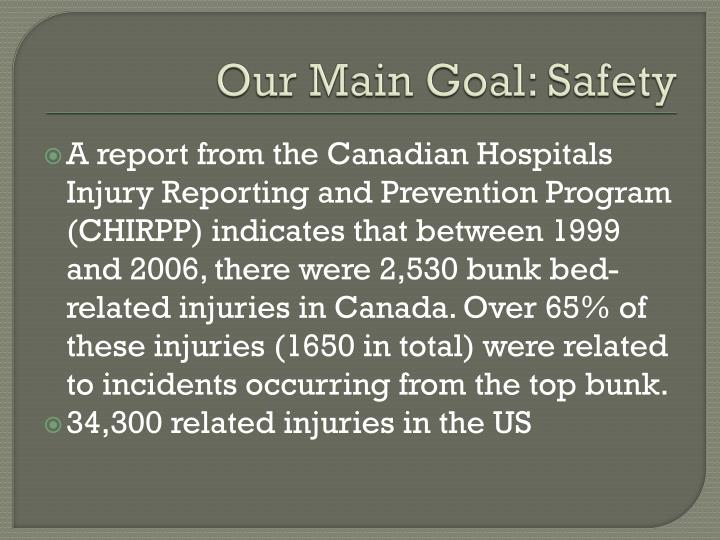 Our Main Goal: Safety