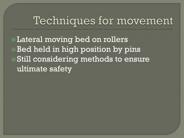 Techniques for movement