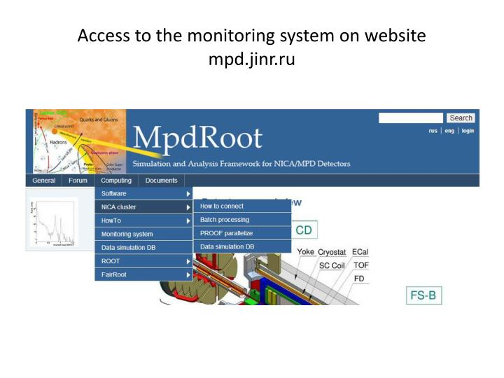 Access to the monitoring system on website