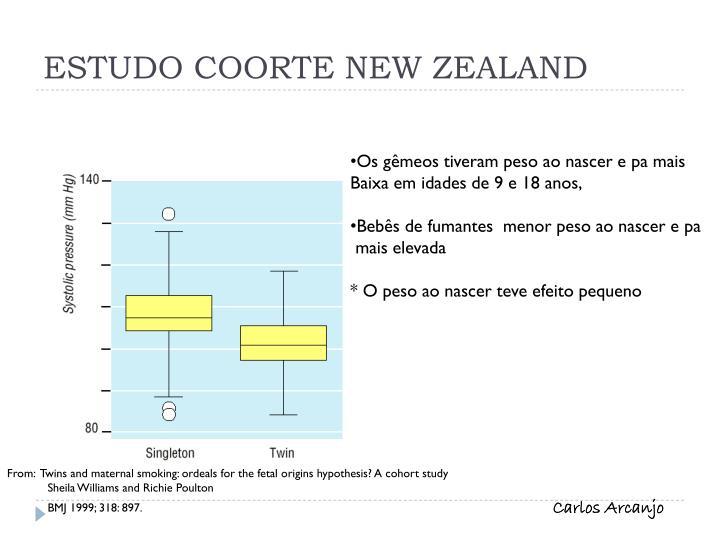 ESTUDO COORTE NEW ZEALAND