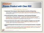 seurat proven product with clear roi