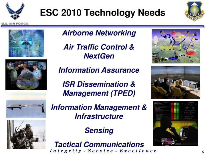 ESC 2010 Technology Needs