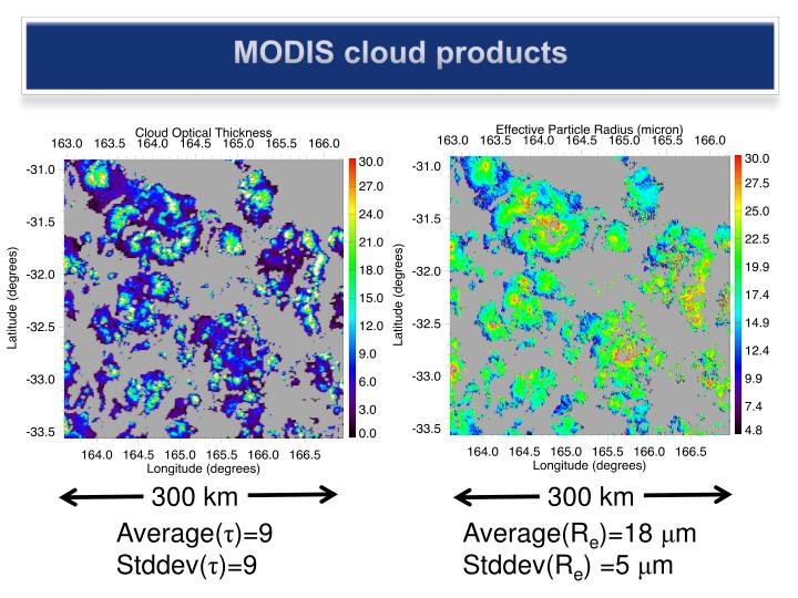 MODIS cloud products