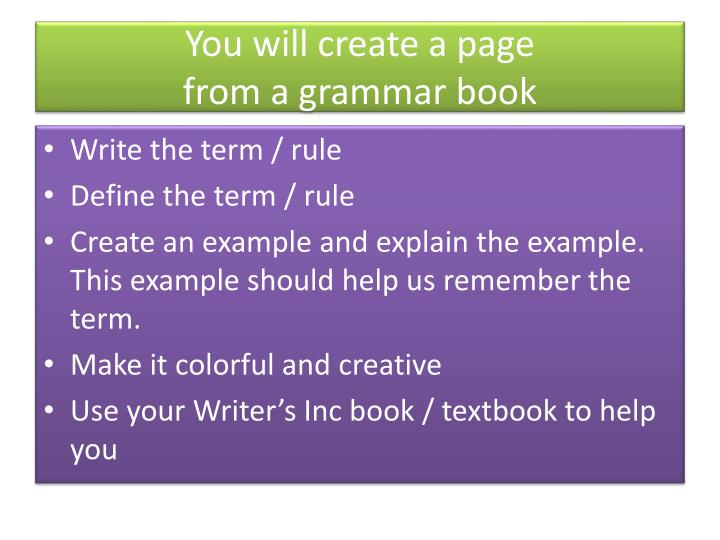 You will create a page