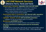 lhc one network services offered to tier1s tier2s and tier3s