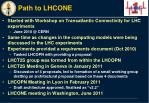 path to lhcone