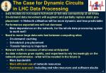 the case for d ynamic circuits in lhc data processing