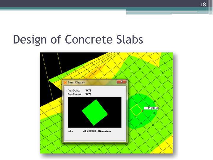 Design of Concrete Slabs