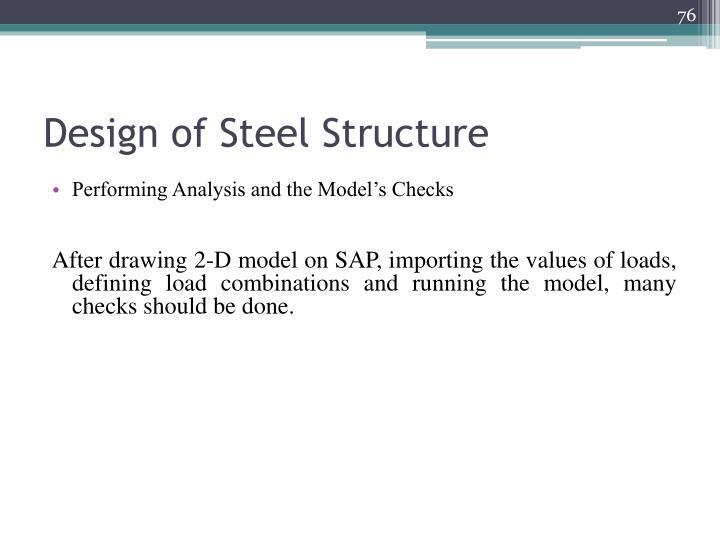 Design of Steel Structure