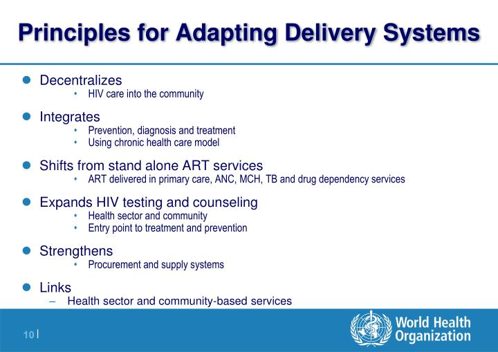 Principles for Adapting Delivery Systems