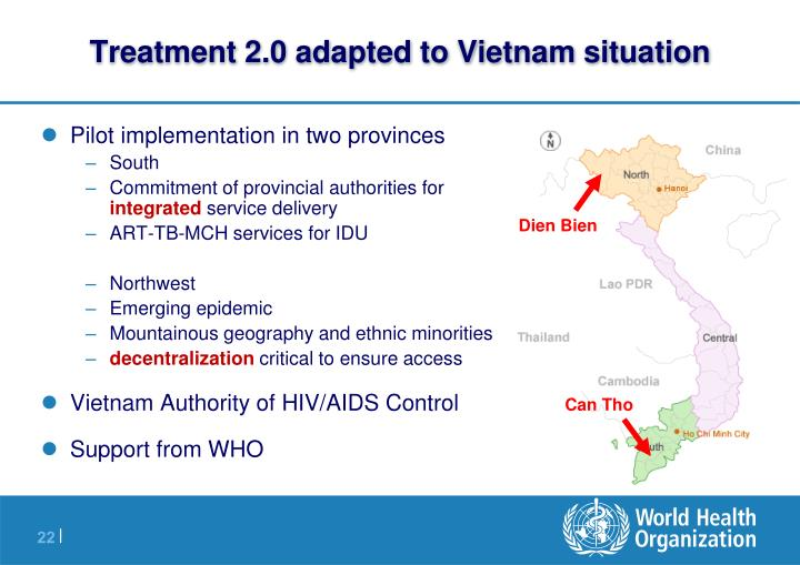 Treatment 2.0 adapted to Vietnam situation