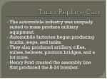 tanks replace cars