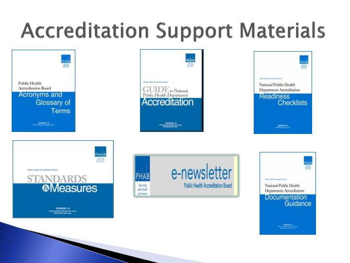 Accreditation Support Materials
